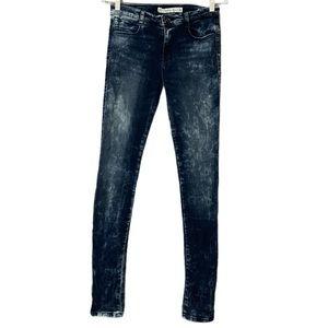 Zara Trafaluc acid wash skinny leg jeans 6